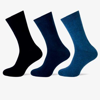 3 stuks Heren sokken Blauw