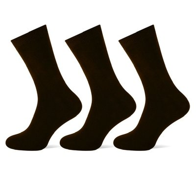 3 stuks Dames sokken Zwart