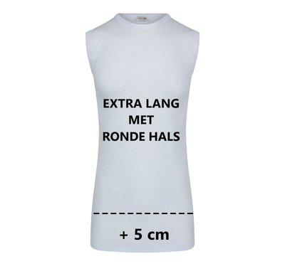 Beeren Extra lang heren mouwloos shirt met ronde hals M3000 Wit