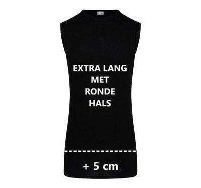Beeren Extra lang heren mouwloos shirt met ronde hals M3000 Zwart