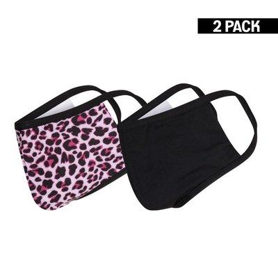 Meisjes 2-Pack Mondkapjes Panter/Zwart 10-16 jaar