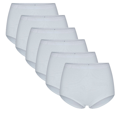 Beeren 6-Pack Dames tailleslips (Maxi) Briljant Wit