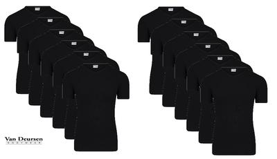 Beeren 12-Pack Heren T-shirts met V-hals en K.M. M3000 Zwart