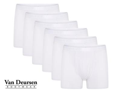 Beeren 6-Pack Heren boxershorts met gulp Dylan Wit