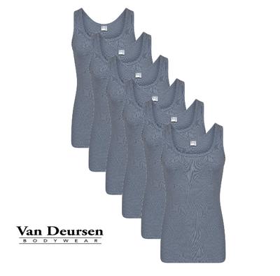 Beeren 6-Pack Heren singlets M3000 Staalgrijs