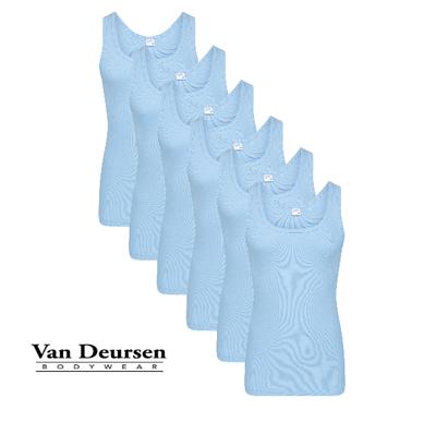 Beeren 6-Pack Heren singlets M3000 Bleu