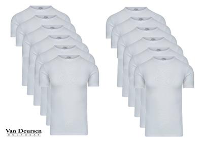 Beeren 12-Pack Heren T-shirts met ronde hals en K.M. M3000 Wit