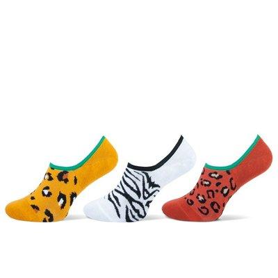 3-Pack Invisible Dames sneaker sokken Dierenprint