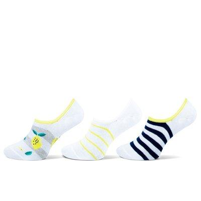 3-Pack Invisible Dames sneaker sokken Lemon