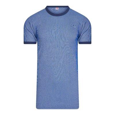 Beeren Heren hemd K.M M2000 Blauw