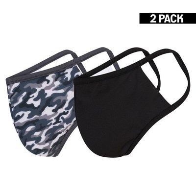 Beeren Heren 2-Pack Mondkapjes Camouflage/Zwart maat M