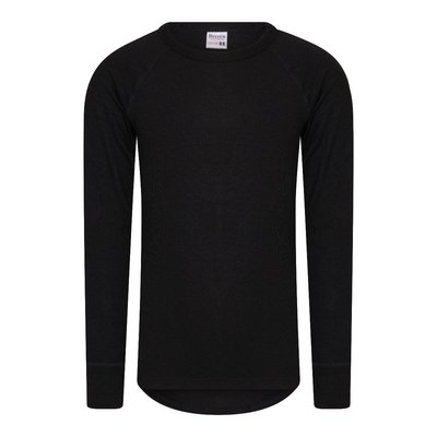 Beeren Thermo kinder shirt met lange mouw Zwart