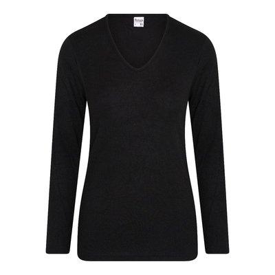 Beeren Thermo dames shirt met lange mouw Zwart