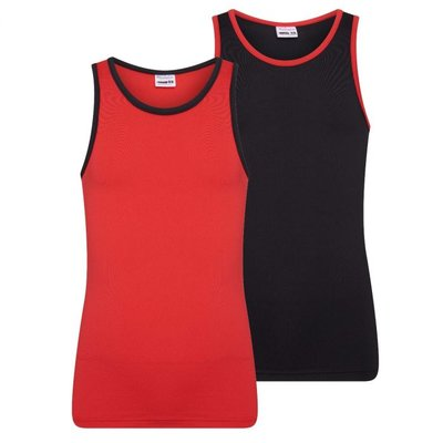 Beeren 2-Pack Mix&Match Meisjes hemden Rood/Zwart