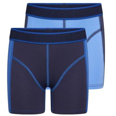 Beeren 2-Pack Jongens boxershorts Mix&Match Blauw/D.Blauw
