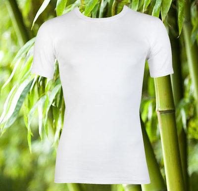 Bamboe T-shirt met K.M. Wit