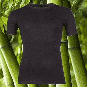 Bamboe T-shirt met K.M. Zwart