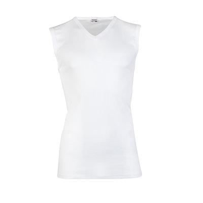 Beeren Heren mouwloos shirt met V-hals M3000 Wit