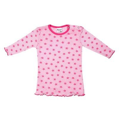 Beeren Baby nachthemd Stripe/Star Roze