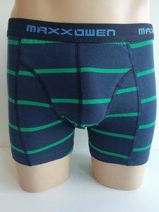 Maxx Owen Heren Boxershort gestreept Groen